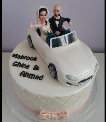 Bride & Groom Themed Cake 01