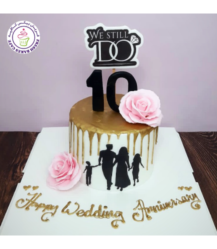 Cake - Roses - Drizzle - Wedding Anniversary
