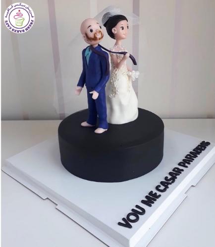 Bride & Groom Themed Cake 03b
