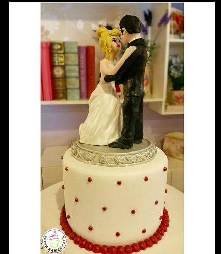 Bride & Groom Themed Cake 02a