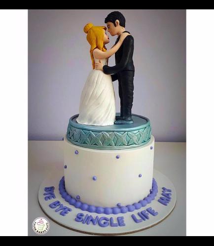 Bride & Groom Themed Cake 02b