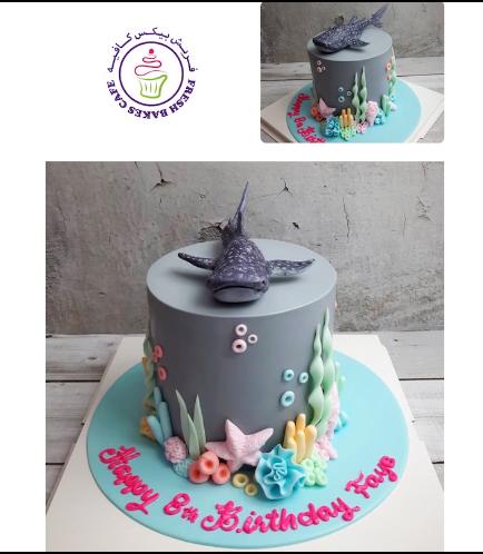 Whale Shark Themed Cake - 3D Cake Topper