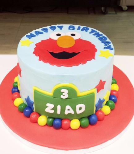 Cake - Elmo - Picture - 2D Fondant 02
