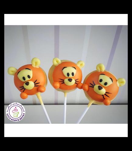 Winnie the Pooh Themed Donut Pops - Tigger