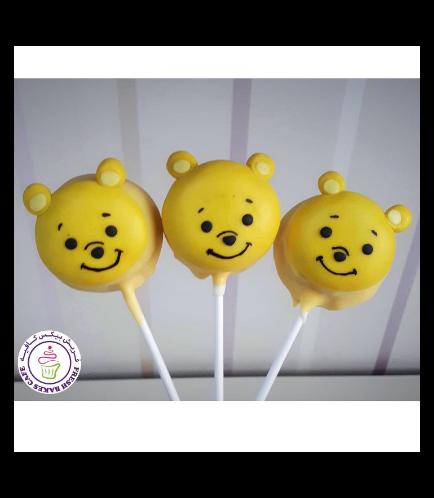 Winnie the Pooh Themed Donut Pops - Winnie