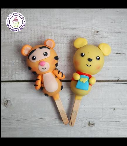 Winnie the Pooh Themed Popsicakes - Winnie & Tigger