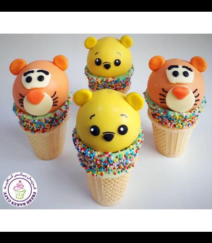 Winnie the Pooh Themed Cone Cake Pops - Winnie & Tigger