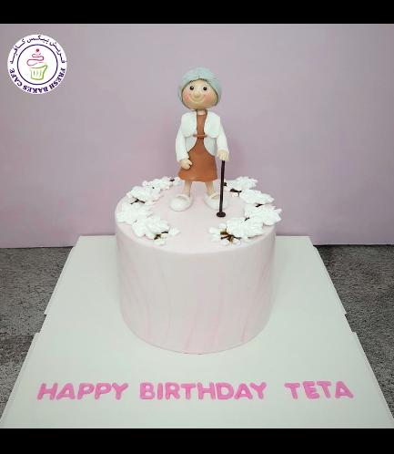 Woman Themed Cake - 3D Character - Grandma