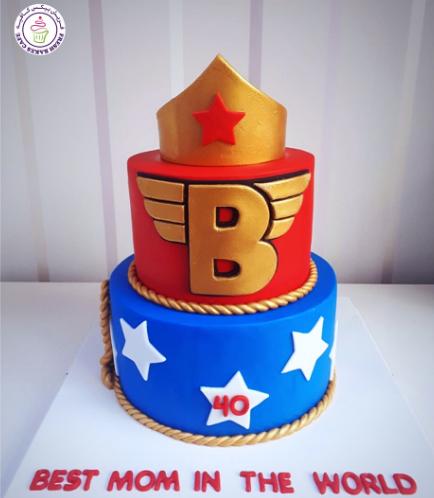 Wonder Woman Themed Cake - Crown 03a
