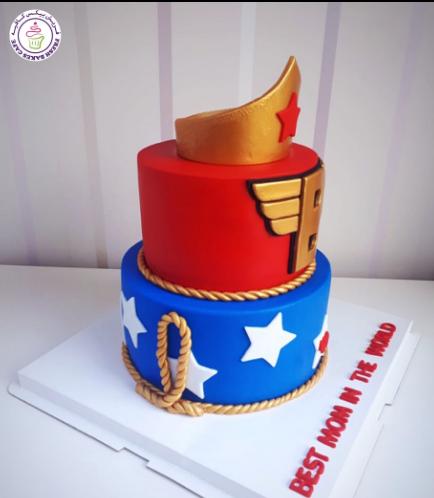 Wonder Woman Themed Cake - Crown 03b