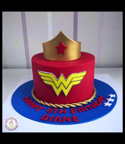 Wonder Woman Themed Cake - Crown 02