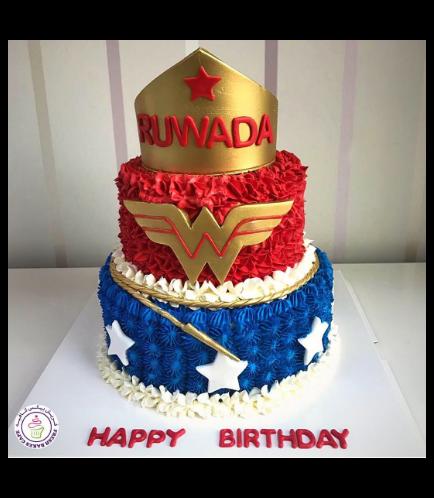 Wonder Woman Themed Cake - Crown 04a