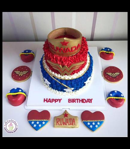 Wonder Woman Themed Cake - Crown 04b