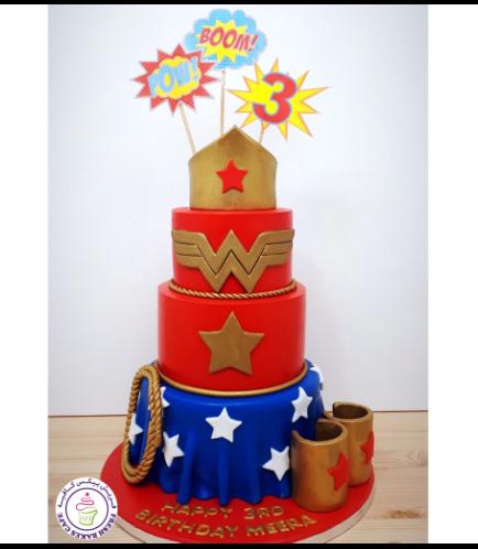 Wonder Woman Themed Cake - Crown 05