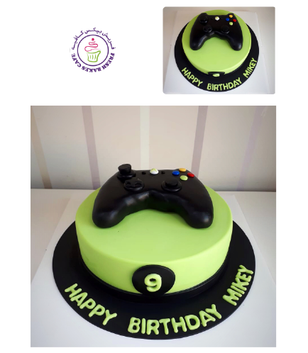 Xbox Themed Cake - 3D Controller Cake Topper 01 - 8