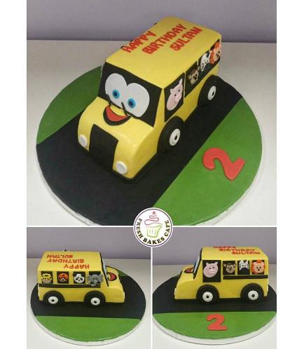 Bus Themed Cake - School Bus - 3D Cake 02