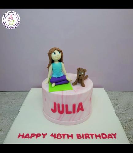 Yoga Themed Cake 03