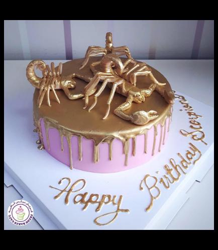 Scorpio Themed Cake 03b