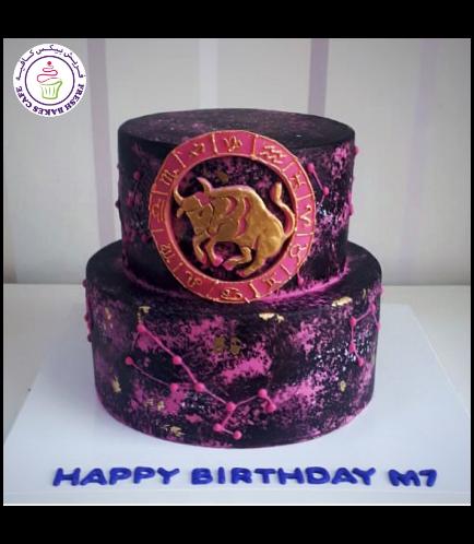 Taurus Themed Cake