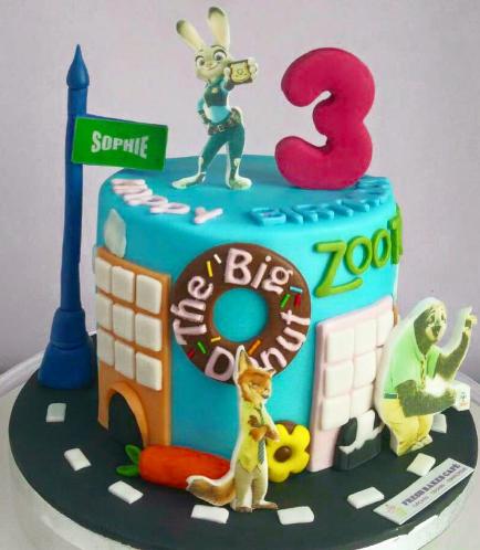 Zootopia Themed Cake