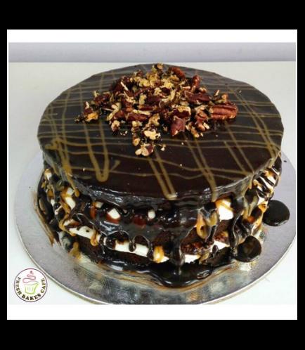 Chocolate, Caramel & Pecan Cake