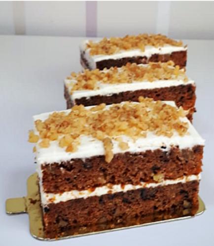 Rectangular Cake Slice-Carrot