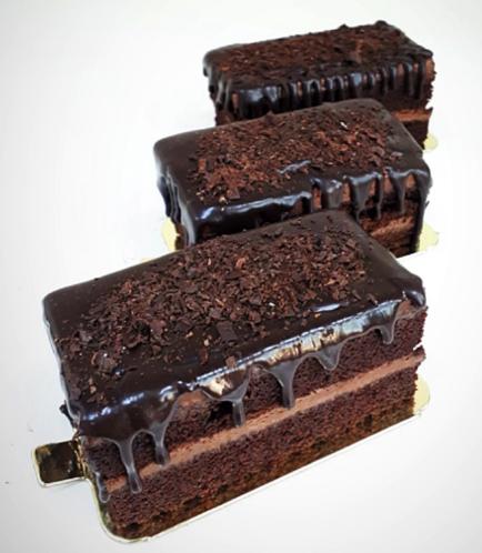 Rectangular Cake Slice-Double Chocolate