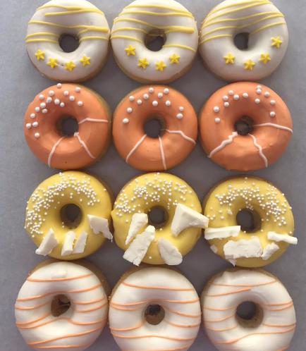 Mini Donuts - White, Orange, & Yellow