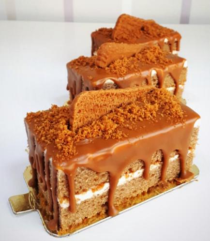 Rectangular Cake Slice-Lotus Biscoff