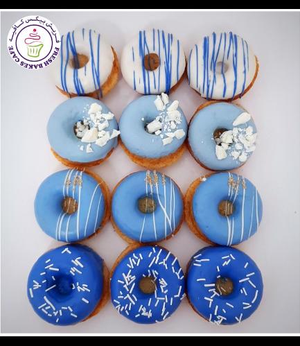 Mini Donuts - Blue & White