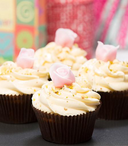 Rosewater Pistachio Cupcake