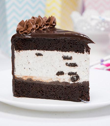 Cake Slice-Cookies & Cream Mousse