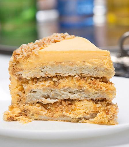 Cake Slice-Meringue Cashew
