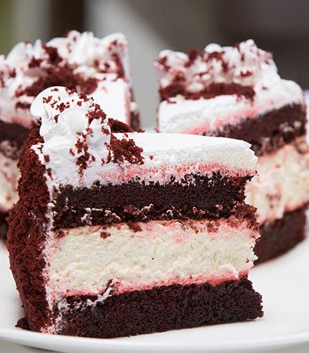 Cheesecake Slice-No-Bake Red Velvet